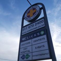 Roadside Pylon sign