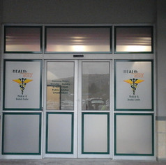Clinic window branding
