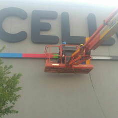 Large sign installation