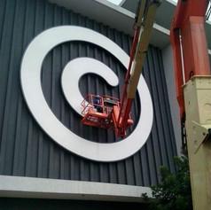Large signage installation