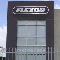Flexco outdoor aluminium sign