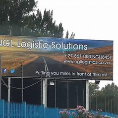 Logistics company banner sign