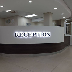 Reception sign with LED's