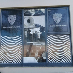 Outdoor window branding