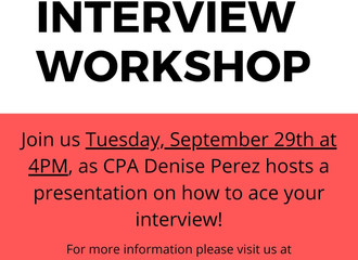 Join us this Tuesday for an interview work shop!
