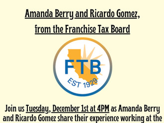 Franchise Tax Board, Last Meeting of the Semester!