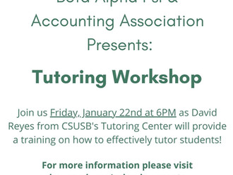 Tutoring Workshop!