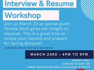 Resume & Interview Workshop!