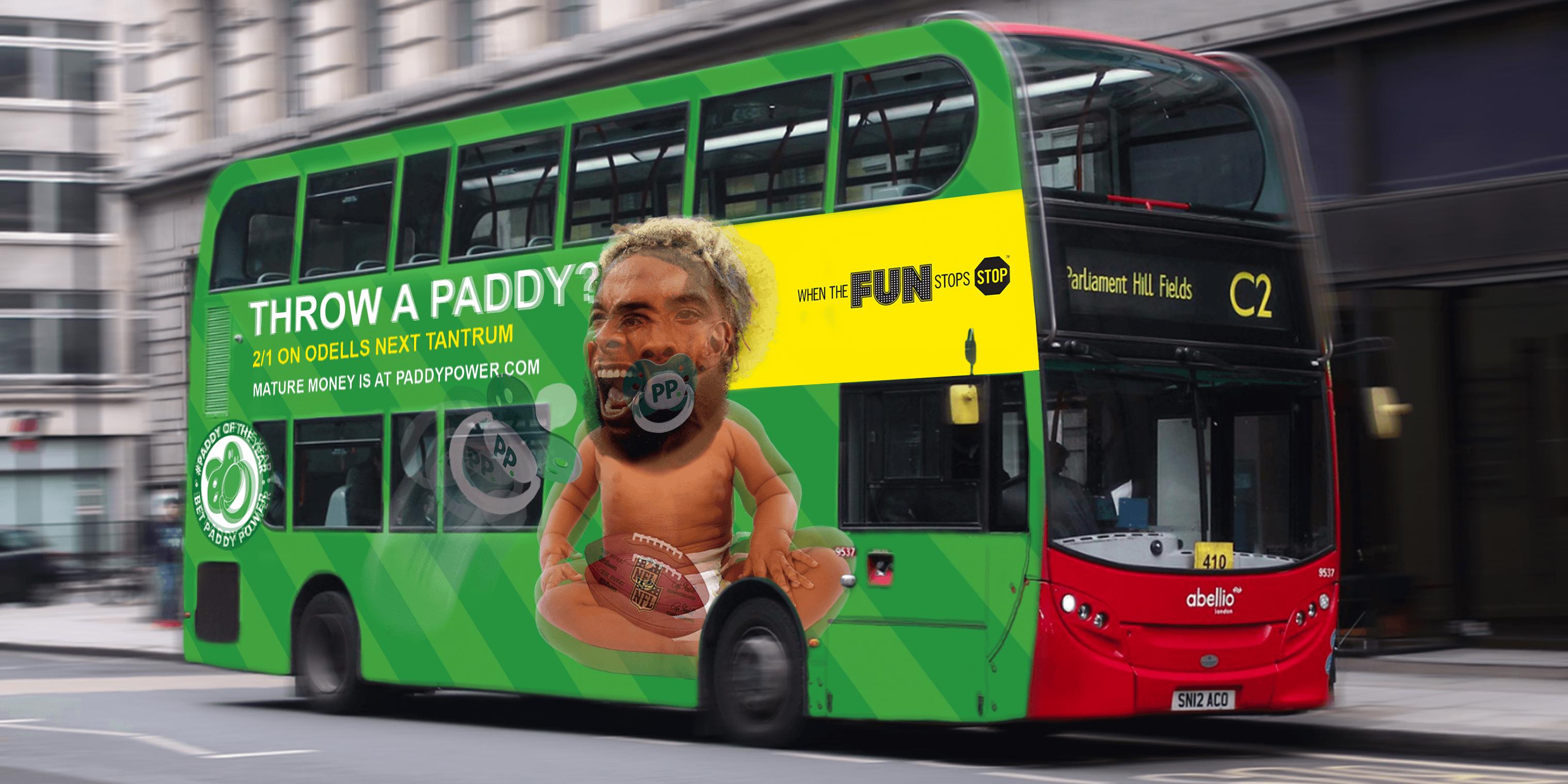 Paddypower Bus Billboard_