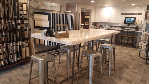 Gillette Wyoming showroom granite island
