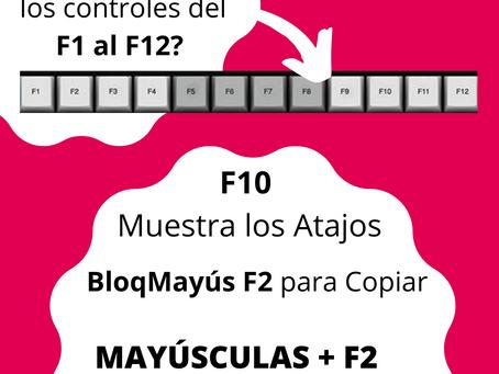 ¿Para qué sirven los controles del F1 al F12? Windows