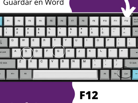¿Cómo Guardar desde el teclado? en Microsoft Word
