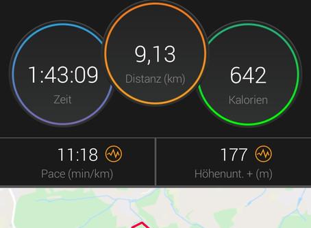 Nordic- Walking     Streckenverlauf vom Samstag den 8.8.20