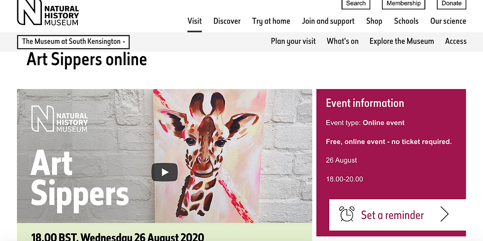 NATURAL HISTORY MUSUEM LIVE* WEDNESDAY 26TH AUG - FREE FOR ALL
