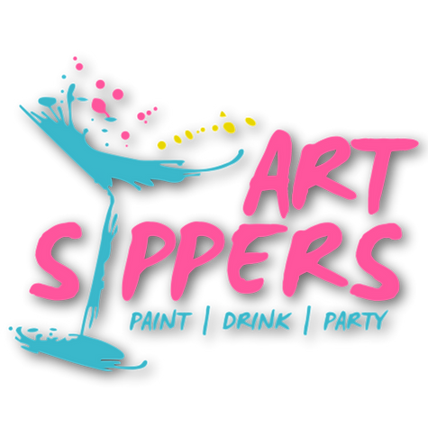 art sippers, paint and sip, london, creative date night, paint and sipping, art and booze, team building, corporate team building