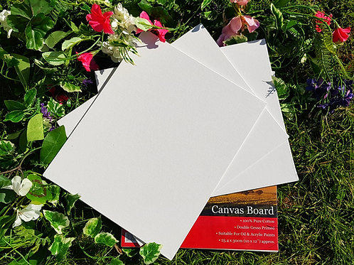 CANVAS BOARD SET (Pack of 6)