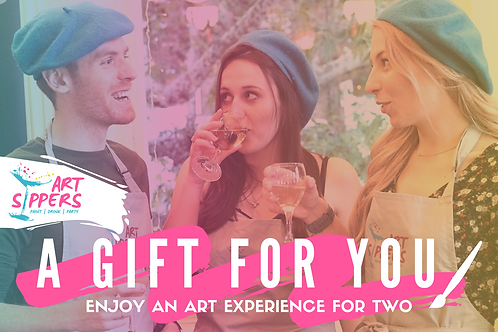 ART SIPPERS - Paint & Sip Experience Voucher - For x2