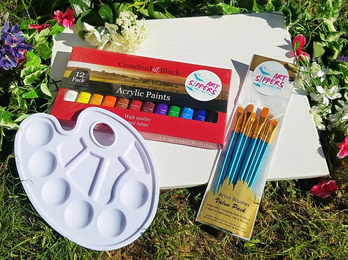 ART SIPPERS LIVE - CREATIVE STARTER KIT FOR ONE