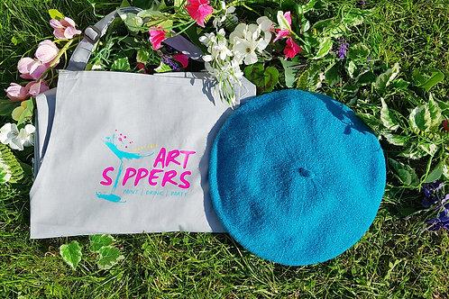 ART SIPPERS - APRON + BERET SET