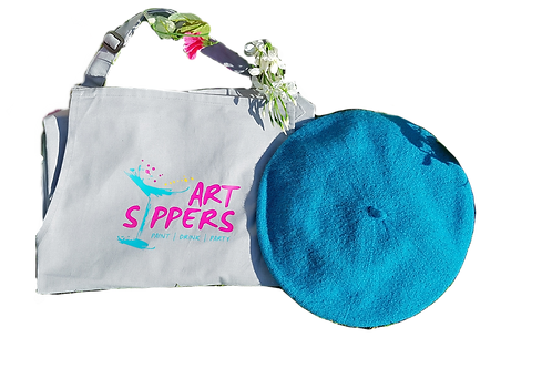 ART SIPPERS BRANDED APRON*ONLY*
