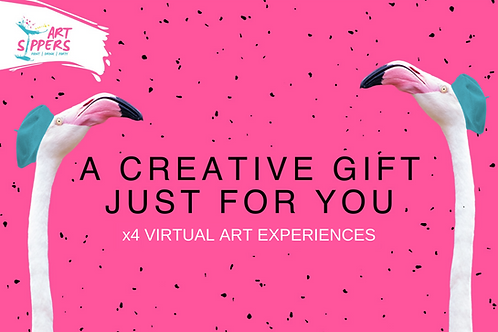 ART SIPPER -  Virtual Paint & Sip Experience Voucher - x4 Entries