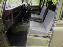 Ex Mod Land Rover 110 interior