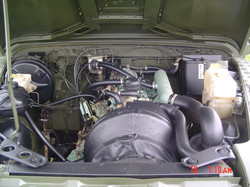 Ex Mod Land Rover 110 engine bay