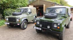 Ex Mod Land Rover 90's Satin Green & Bronze Green
