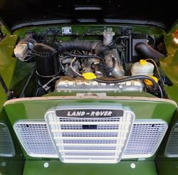 Ex Mod Land Rover Series 3 engine bay