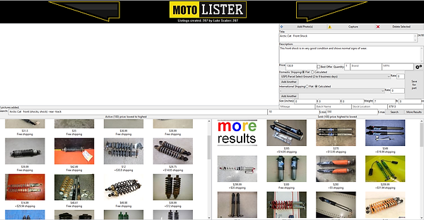 MotoLister Automatic Search Feature