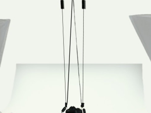 Retracting Camera Hanger with cables