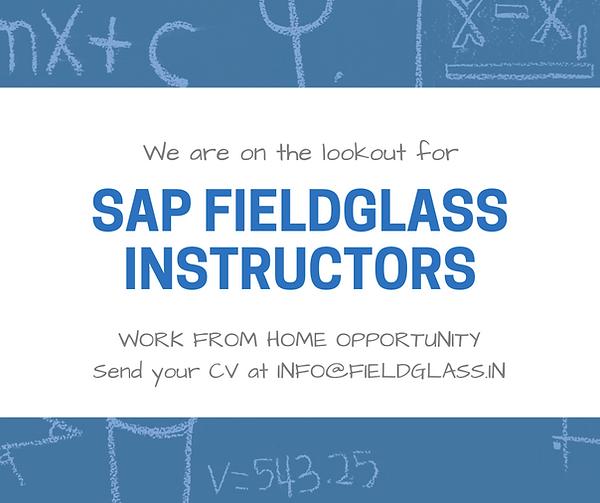 SAP FIELDGLASS instructors required (2).