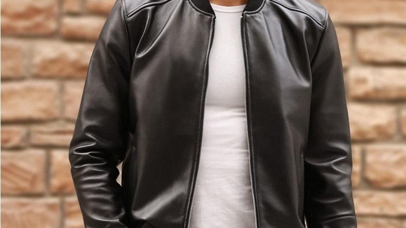 Large Size 5XL Sheepskin Slim Aviation Genuine Leather