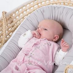 Babynest - Uglerede Grå
