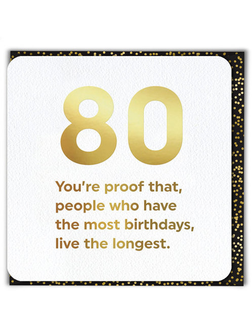 80 You're Proof