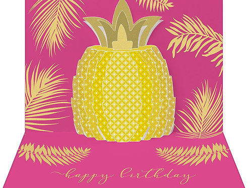 Happy Birthday Pineapple Pop-Up