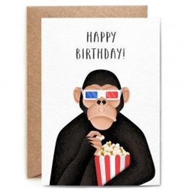 Happy Birthday 3-D Ape