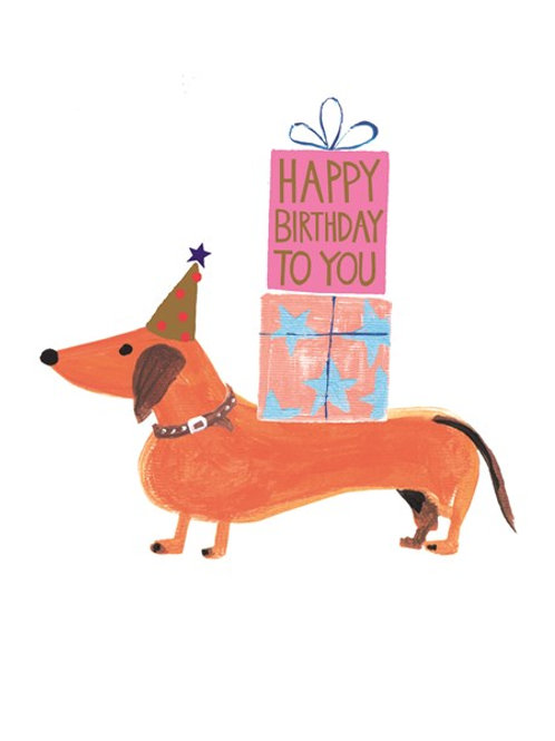 Dachshund Happy Birthday
