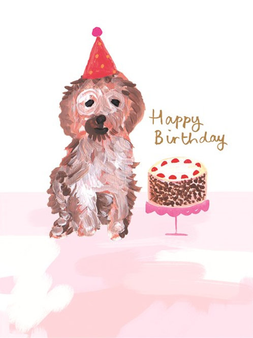 Happy Birthday Cake Dog
