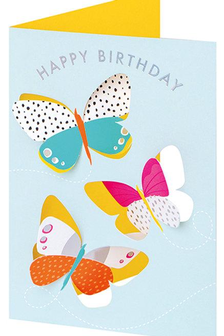 Happy Birthday Butterflies Pop-Up