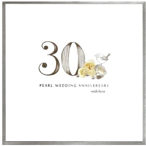30 Pearl Wedding Anniversary With Love