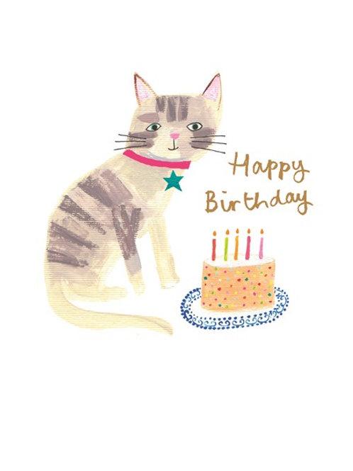 Happy Birthday Cake Cat
