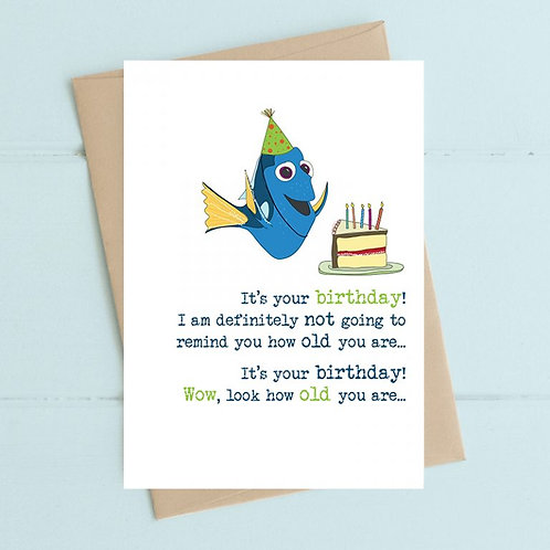 Dory You're Old