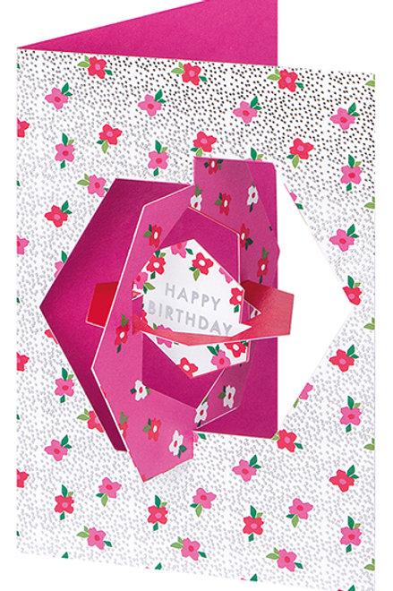 Happy Birthday Roses Pop-Up