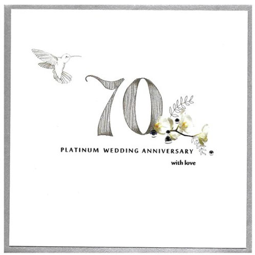 70 Platinum Wedding Anniversary With Love