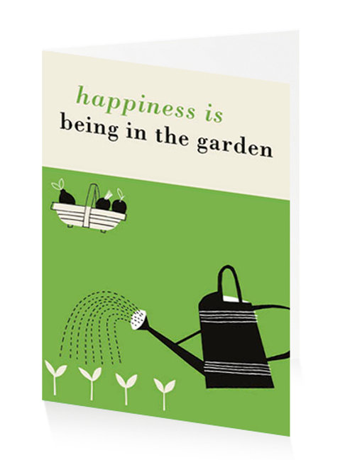 Happiness Is Being In The Garden