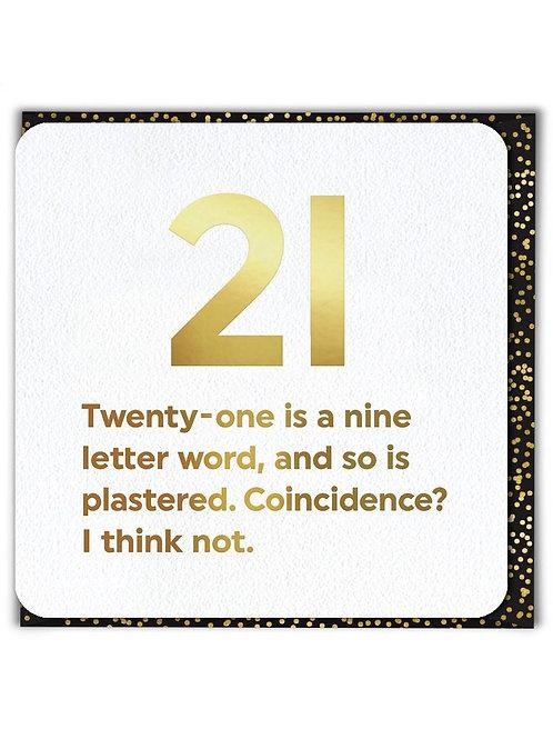 21 Nine Letter Word