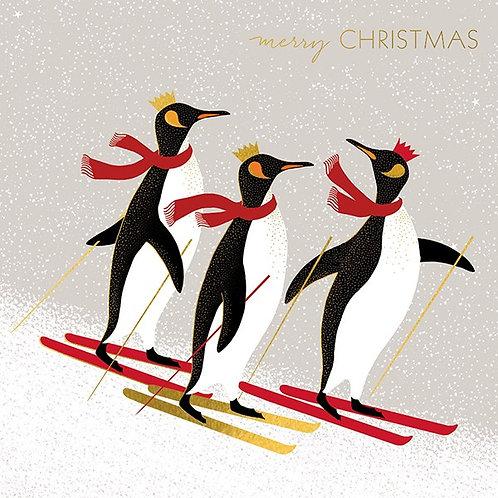 Skiing Penguins And Polar Bears