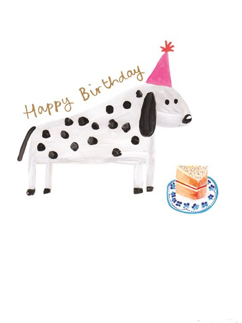 Dalmation Happy Birthday