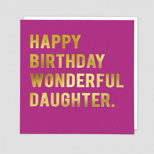 Happy Birthday Wonderful Daughter